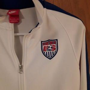 USA Nike Soocer  full zip Jacket womens size XL